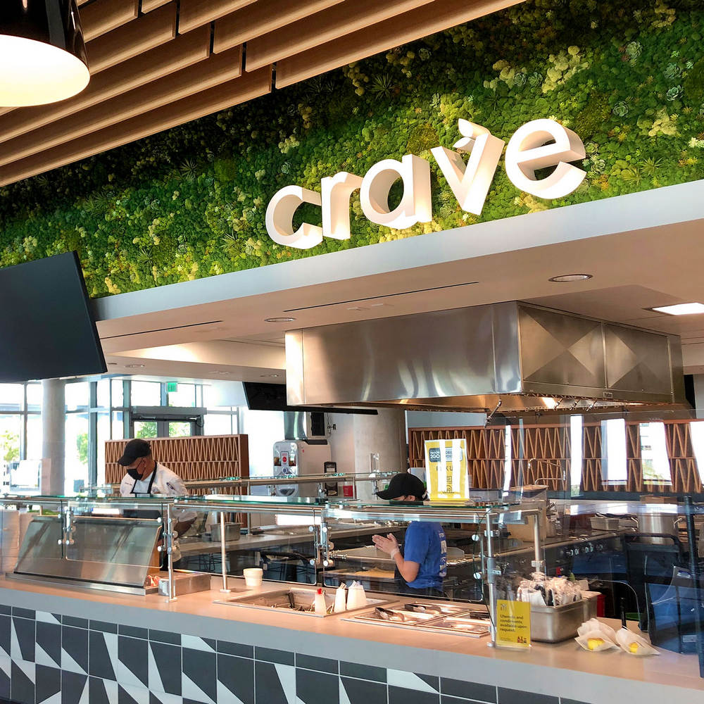 UCSD Crave - moss wall